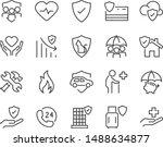 set of insurance icons ...   Shutterstock .eps vector #1488634877