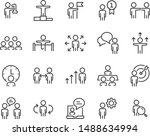 set of people icons  job  user  ... | Shutterstock .eps vector #1488634994