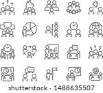 set of meeting icons  people ... | Shutterstock .eps vector #1488635507