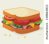 vector sandwich illustration | Shutterstock .eps vector #148863821