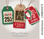 christmas theme sale tags   Shutterstock .eps vector #148865675