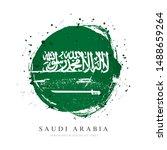 saudi arabia flag in the shape...   Shutterstock .eps vector #1488659264