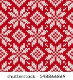 nordic knitted seamless pattern....