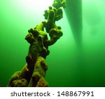 an anchor chain secures an old... | Shutterstock . vector #148867991