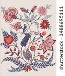 woodblock printed  ethnic... | Shutterstock .eps vector #1488695111