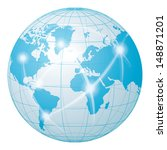 network communication world | Shutterstock . vector #148871201