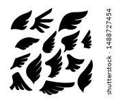 set of the wing icons. design... | Shutterstock .eps vector #1488727454
