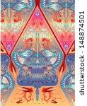 vector pattern gunungan wayang batik javanese indonesia