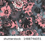 vector seamless pattern with... | Shutterstock .eps vector #1488746051