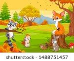 cartoon wild animals in the... | Shutterstock .eps vector #1488751457