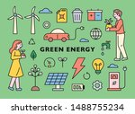 green energy and icons for the...   Shutterstock .eps vector #1488755234