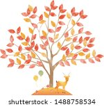 tree isolated on a white... | Shutterstock .eps vector #1488758534