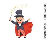 Magician In A Cloak And Hat....
