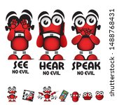 see no evil  hear no evil ... | Shutterstock .eps vector #1488768431
