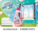 fabric softener gel. pink... | Shutterstock .eps vector #1488814451