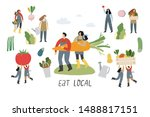 local organic production... | Shutterstock .eps vector #1488817151