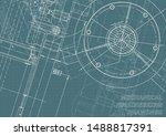 engineering. mechanical... | Shutterstock .eps vector #1488817391