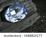 Faceted Blue Jewelry Gemstone...