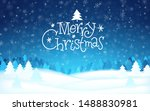 merry christmas hand drawn... | Shutterstock .eps vector #1488830981
