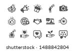brand ambassador icons.... | Shutterstock .eps vector #1488842804