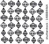 vector seamless pattern. modern ... | Shutterstock .eps vector #148884464