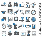 business icons set. icons for... | Shutterstock .eps vector #1488868304