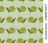 seamless pattern with flowers ... | Shutterstock .eps vector #1488876017