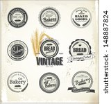 vintage bakery labels | Shutterstock .eps vector #148887824