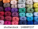 Colorful Yarn Isolated On Whit...
