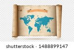 antique paper scroll or... | Shutterstock .eps vector #1488899147