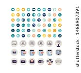 set icon social media and... | Shutterstock .eps vector #1488907391