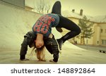 breakdance girl | Shutterstock . vector #148892864
