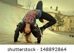 breakdance girl | Shutterstock . vector #148892864