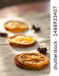 Slices Of Dried Orange In The...