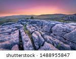 Top Of Malham Cove Showing The...