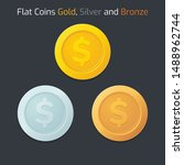 game coins or medals set. gold  ...