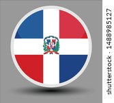 dominican flag in the form of a ...   Shutterstock .eps vector #1488985127