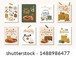 posters of autumn vector... | Shutterstock .eps vector #1488986477