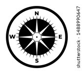 compass icon  logo isolated on...