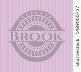 brook retro style pink emblem....