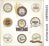 vintage bakery labels | Shutterstock .eps vector #148900631