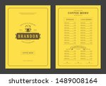 coffee menu template design... | Shutterstock .eps vector #1489008164