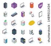 pack of hardware isometric...   Shutterstock .eps vector #1489011434
