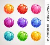 cartoon colorful jelly balls....