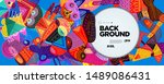 colorful abstract banner... | Shutterstock .eps vector #1489086431