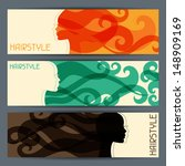 hairstyle horizontal banners. | Shutterstock .eps vector #148909169