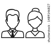 icon of man and woman on a... | Shutterstock .eps vector #1489146827