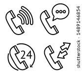landline phone icon sets of... | Shutterstock .eps vector #1489146854