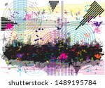 abstract colorful circles... | Shutterstock .eps vector #1489195784
