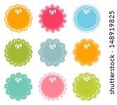 set of lacy frames | Shutterstock .eps vector #148919825